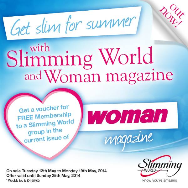Free slimming world membership with woman magazine 13 may for Slimming world offers