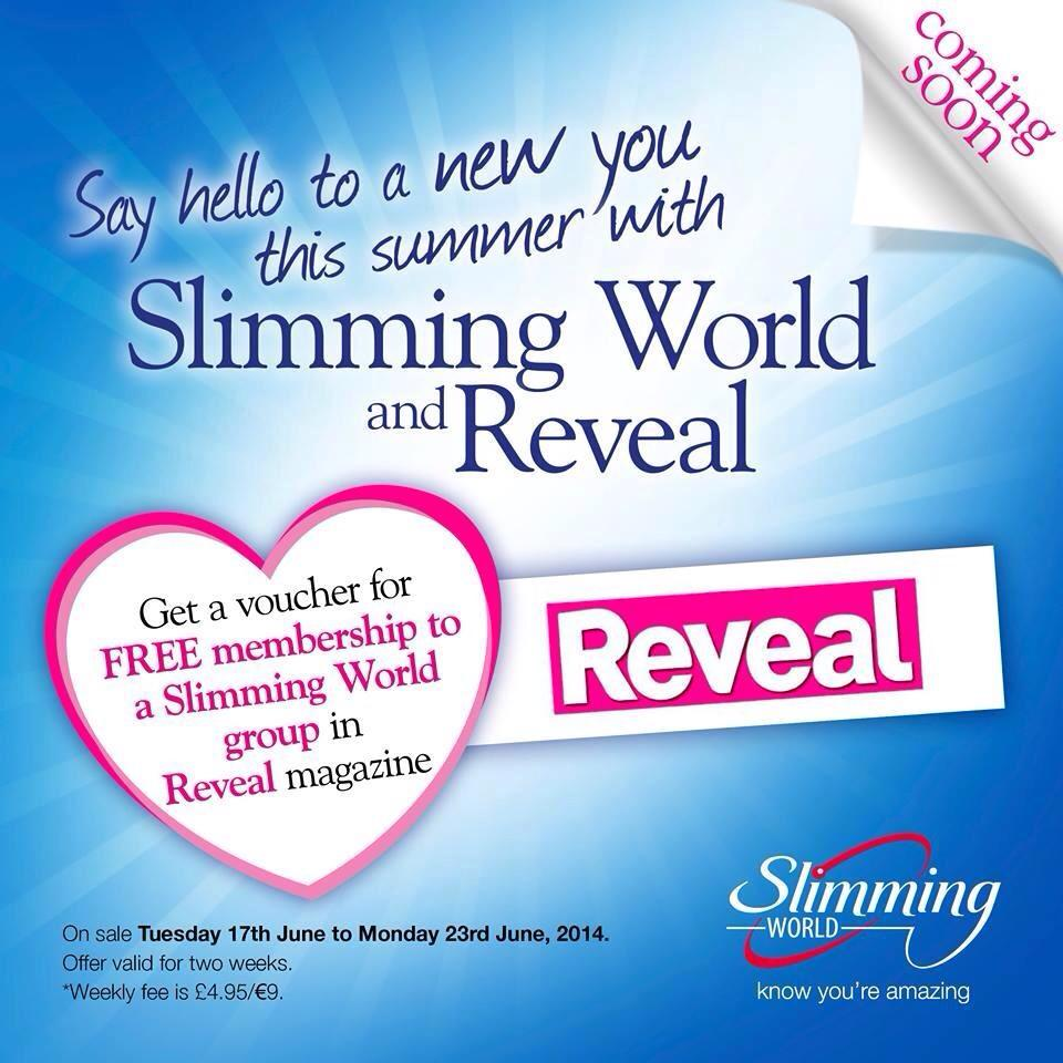Free slimming world membership inside reveal magazine 17 for Slimming world offers
