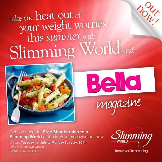 Free slimming world membership with bella magazine last One you slimming world
