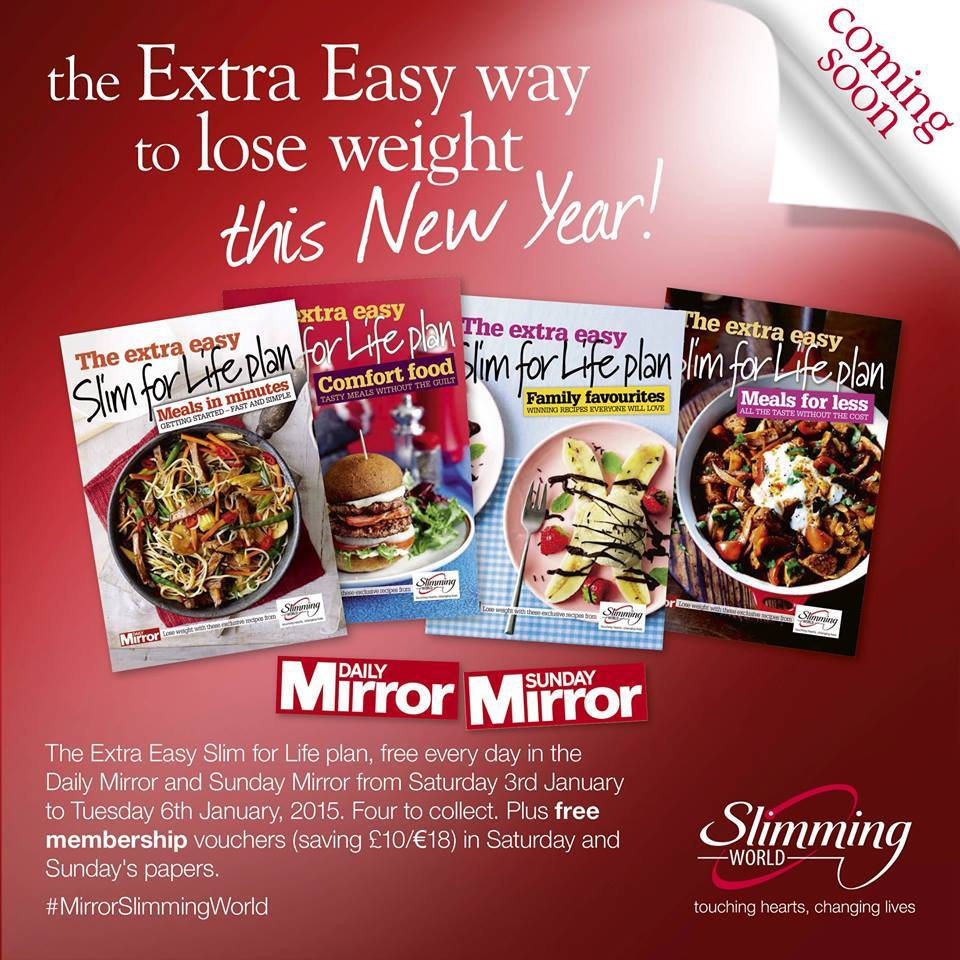 Pickup your Slim for Life booklets with the Daily Mirror ...