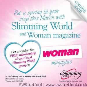 Free slimming world membership with woman magazine march for Slimming world offers