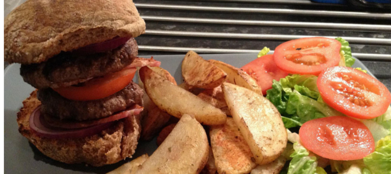 Slimming World Ultimate Bacon Burger With Cajun Wedges