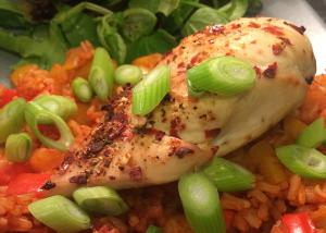 Slimming World Piri-Piri Chicken with spicy rice and salad