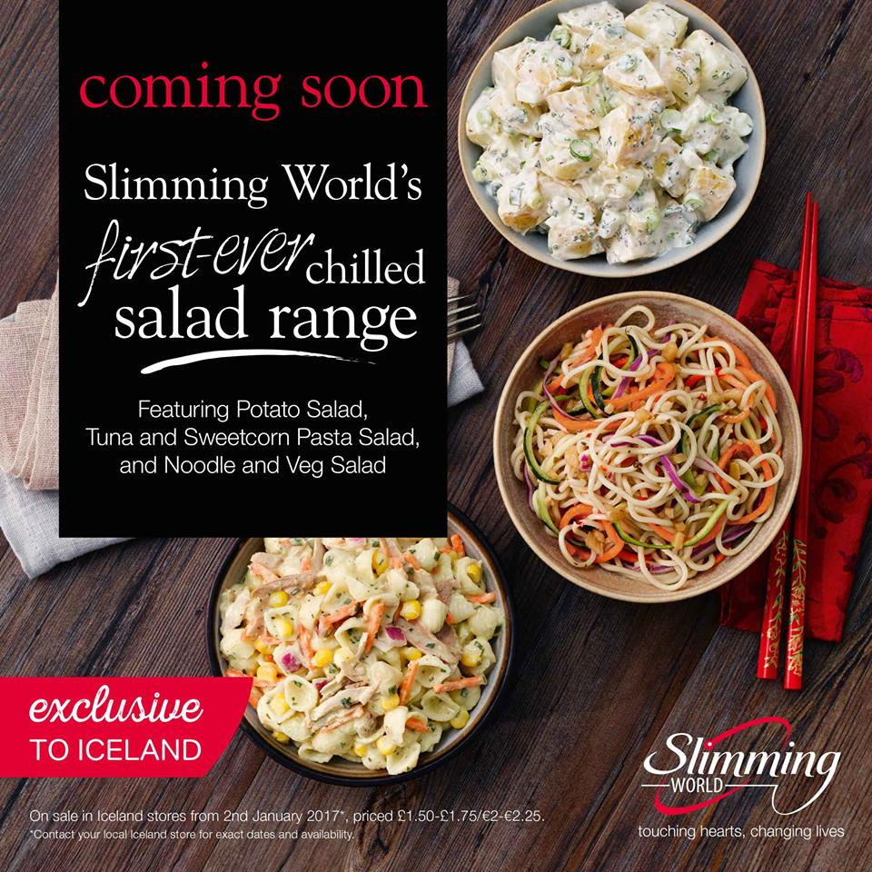 Slimming world salads brand new chilled food range coming to iceland stores swstretford New slimming world meals