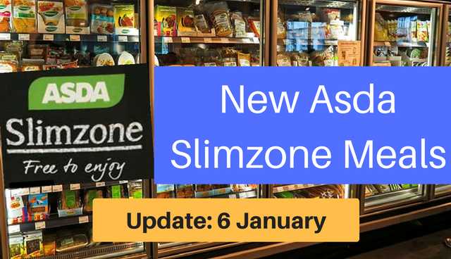 Update 6 January Asda Slimzone Ready Meals And Slimming