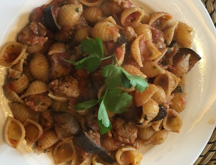 Hearty Slimming World Sausage And Aubergine Pasta