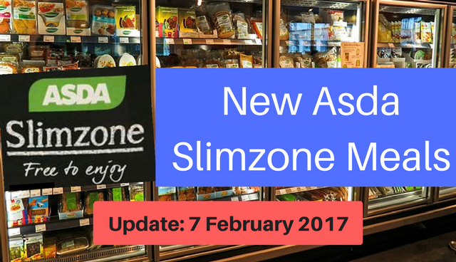 Update 7 February Asda Slimzone Ready Meals And