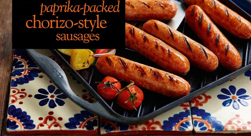 Coming Soon: Paprika-packed Chorizo-Style Sausages ...